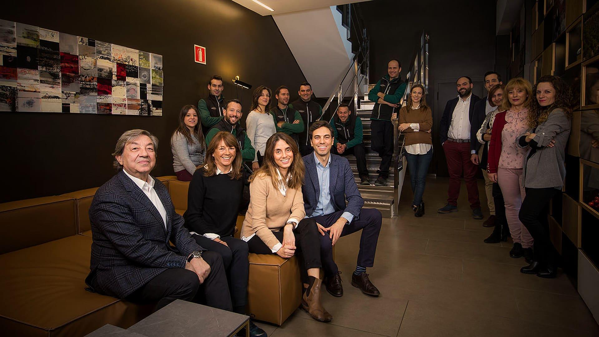 Equipo Bodegas Jose Pariente foto de familia